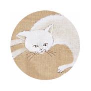 女の子用名前入り出産祝い猫柄